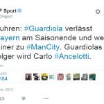Guardiola va fi antrenorul echipei Manchester City