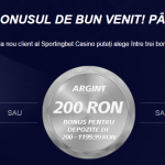 Bonus la prima depunere la Sportingbet Casino