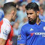 Diego Costa a primit rosu direct in meciul cu Everton