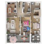 In căutarea unui apartament cu 3 camere potrivit pentru mine