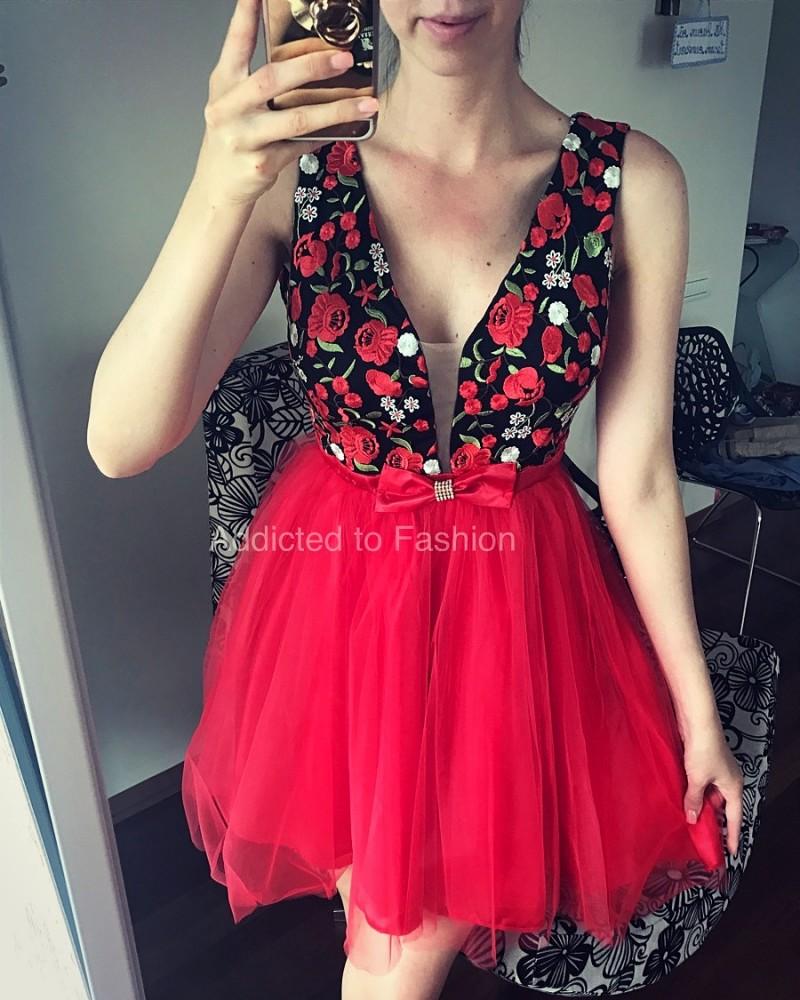 rochie de seara rosie